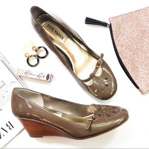 Steve Madden Patent Leather Parlez Wedge Mary Jane